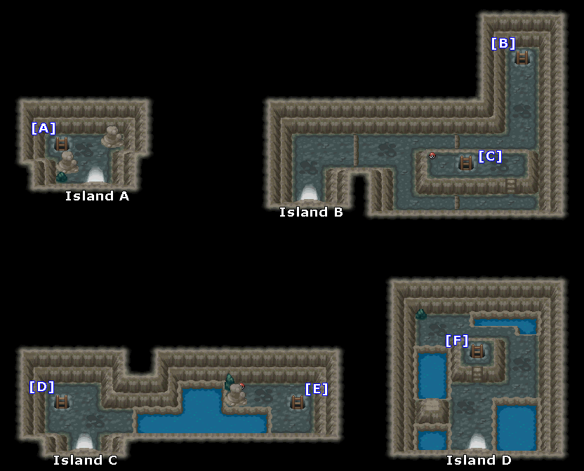 Pokemon Heart Gold Map Of Whirl Islands